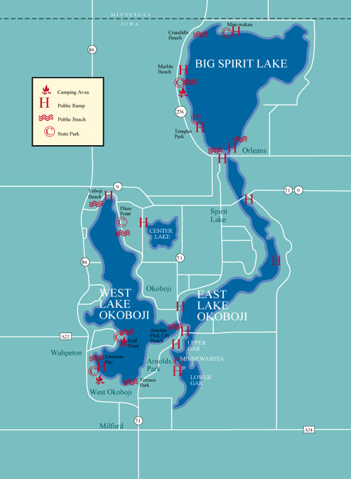 Lake Okoboji Map Gallery