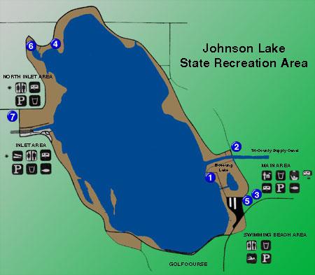 MidwestSailing - Johnson lake map